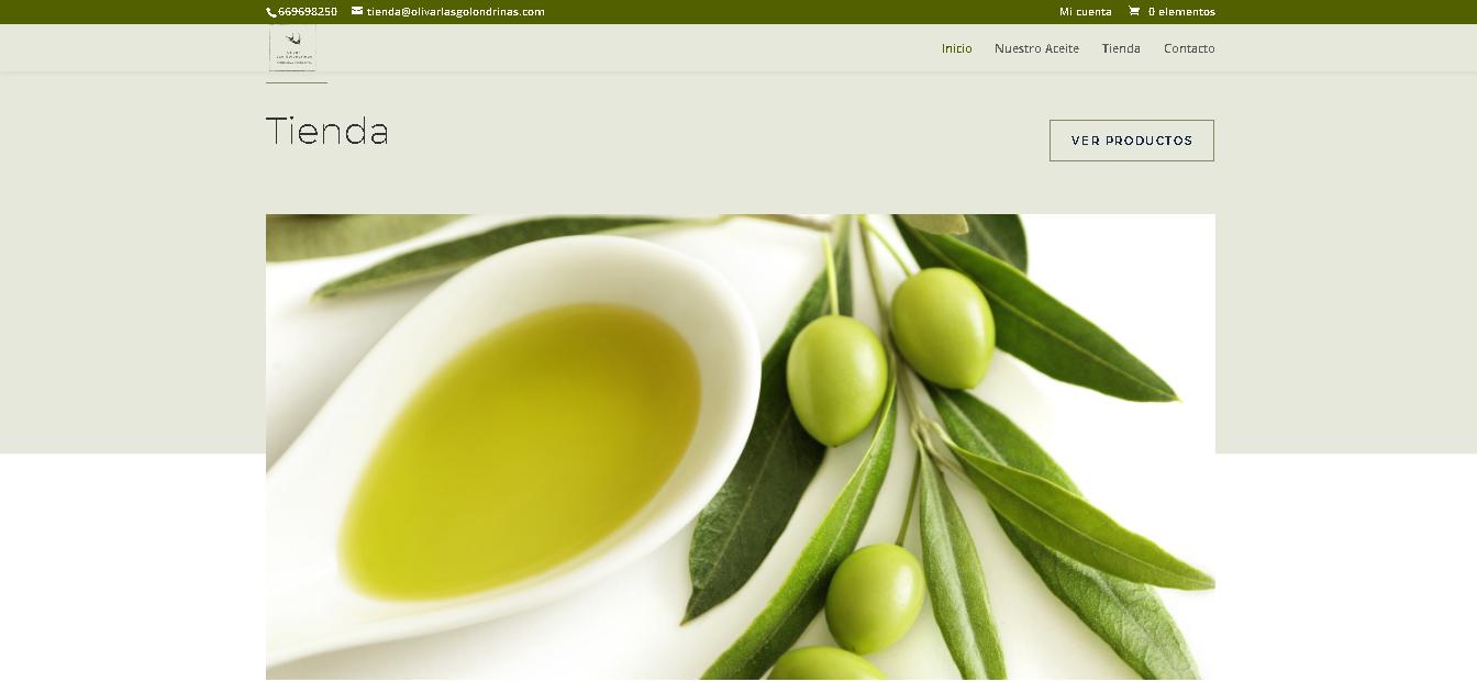 ECommerce con los mejores aceites de oliva virgen extra